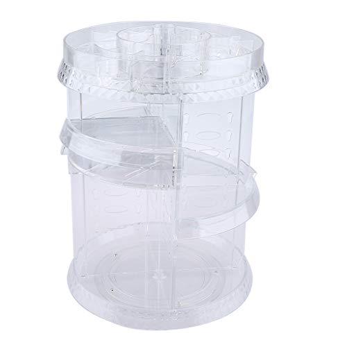 MagiDeal Großer Make Up Display Organizer, Um 360 ° Drehbarer, Verstellbarer Stauraum Für Kosmetikartikel, Toilettenartikel Und Mehr - B