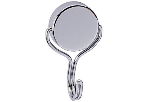 Maul Neodym-Magnet mit Karussell-Haken, rund, drehbar, Stahl, 30 kg Haftkraft, 38, 5 mm, hellsilber, 6155696, Silber