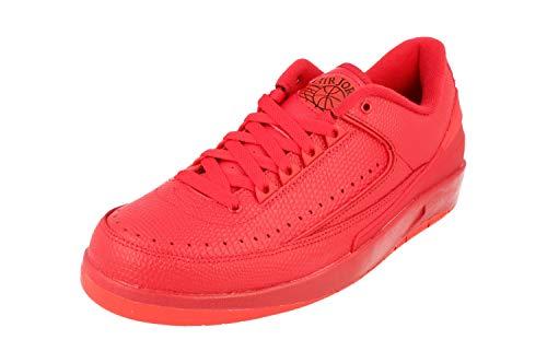 Nike Herren Air Jordan 2 Retro Low Basketballschuhe, rot Gym rot Unvrsty rot Hypr TRQ, 46 EU