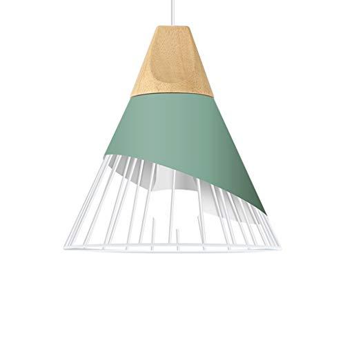 GaLon hanglamp Nordic eenvoudige hanglamp modern macarons slaapkamer verstelbaar creatief beddengoed persoonlijkheid ijzer plafondlamp van hout hanglamp La