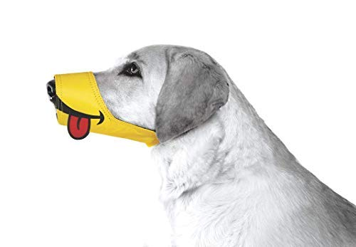 Cesar Millan Funny Muzzle, Smile, Size 4, Yellow