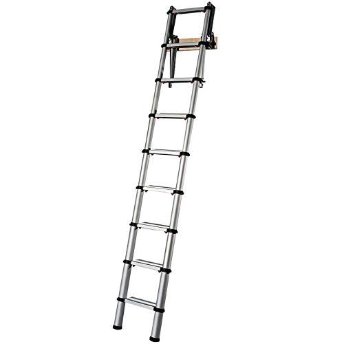 YOUNGMAN 301000 Telescopic Loft Ladder Aluminium 2.6 Metres / 8.53 Feet, Silver, 86 x 48 x 12 cm