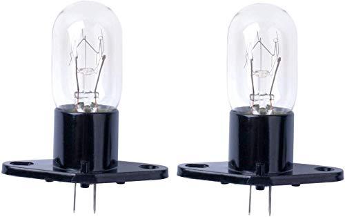 Poweka Ampoule à micro-ondes, lampe de four à micro-ondes 25W 240V pour four à micro-ondes Bosch, LG, Panasonic, Siemens,2 pièces