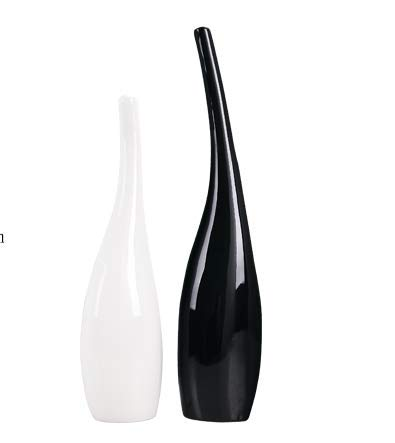 LLDKA Zwarte en witte keramische sieraden ornamenten versieren de eenvoudige levensduur van de tv-kast meubelen in wijn maken keramische kunst vaas 2