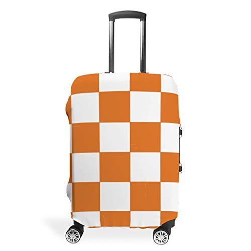 XJJ88 - Protector de Equipaje de Viaje para Tablero de ajedrez, Color Naranja y Blanco, Blanco (Blanco) - XJJ88-scc
