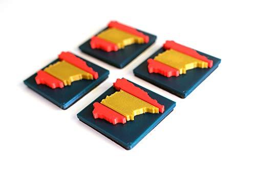4 pegatinas 3D España