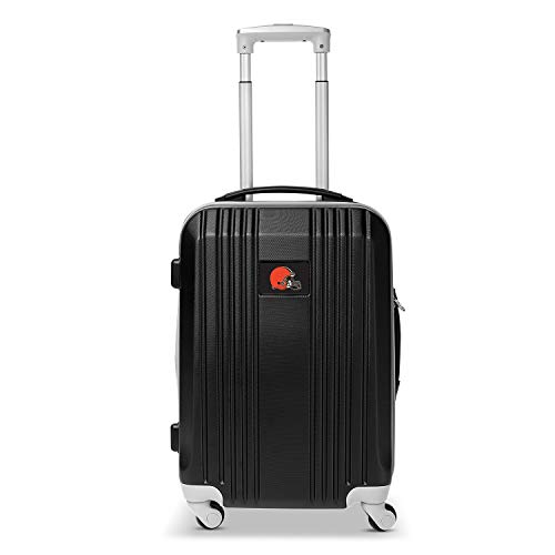 Affordable Denco NFL Cleveland Browns Round-Tripper Two-Tone Hardcase Luggage Spinner