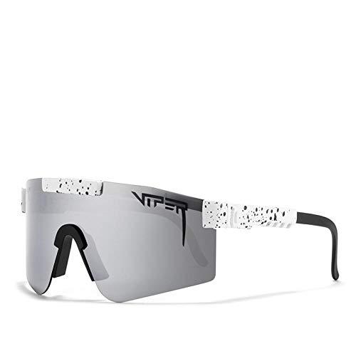 DGFDHN Gafas De Sol Polarizadas Pit Viper Sport Para Hombres Y Mujeres, Gafas A Prueba De Viento Al Aire Libre, Lentes Con Espejo Uv, -C17