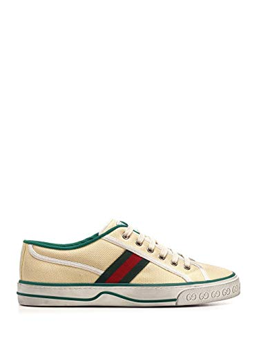 Luxury Fashion | Gucci Heren 606111GZO309361 Beige Canvas Sneakers | Lente-zomer 20
