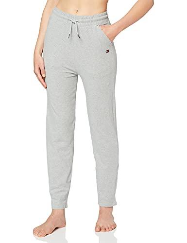 Tommy Hilfiger Damen Schlafanzughose PANT, Grau (Grey Heather 004), Medium