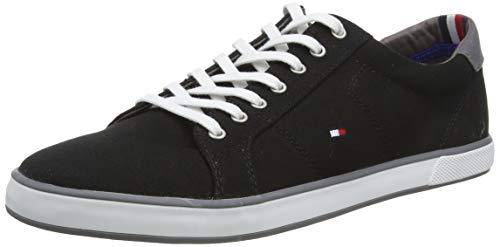 Tommy Hilfiger Herren H2285ARLOW 1D Low-Top, Schwarz (Black 990), 45 EU