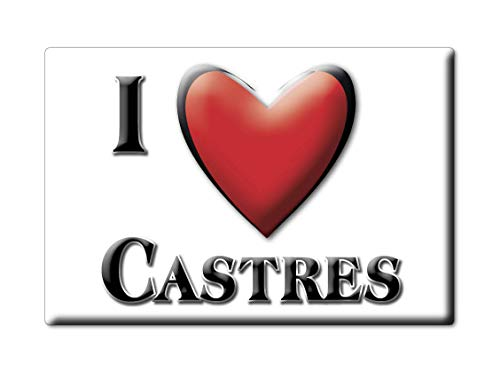 Enjoymagnets CASTRES (2) Souvenir IMANES DE Nevera Francia Lorraine IMAN Fridge Magnet Corazon I Love