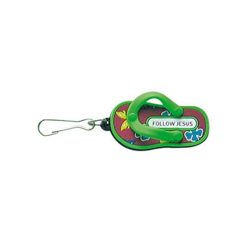 °*3300 Flip Flop GRÜN Anhänger Zipper