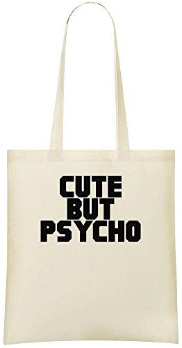 Mignon mais psychopathe - Cute But Psycho Custom Printed Shopping Grocery Tote Bag 100% Soft Cotton Eco-Friendly & Stylish Handbag For Everyday Use Custom Shoulder Bags