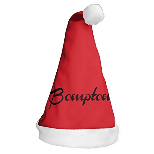 Bompton Christmas Xmas Hat Santa Party for Vacation Pack Top Beanie Cap Set Fancy Creative Children Adult Gift Family Decorations Ornaments Costume