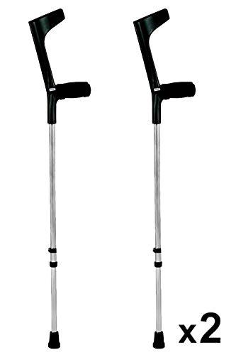 KMINA - Krücken Schwarz, Gehhilfe krücken, Gehhilfen krücken, Krucken, Gehilfen krücken KMINA COMFORT BASIC Doppelset