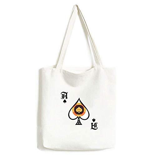 Gelbe Spaten Chips Illustration Muster Handtasche Craft Poker Spaten waschbare Tasche