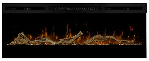 Dimplex Prism 50-Inch Electric Fireplace with Driftwood Log Set - BLF5051 & LF50DWS-KIT