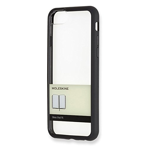 Moleskine Transparent Paperband iPhone 7 Hard Case, Black