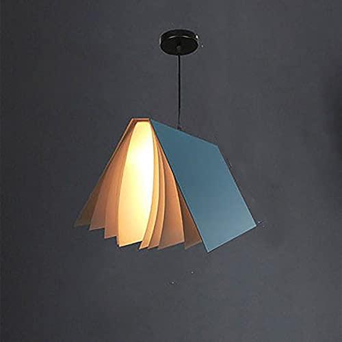 RR&LL Creativo libro forma tienda decoración techo colgante luz negro blanco azul niño habitación bar café tienda colgante luz
