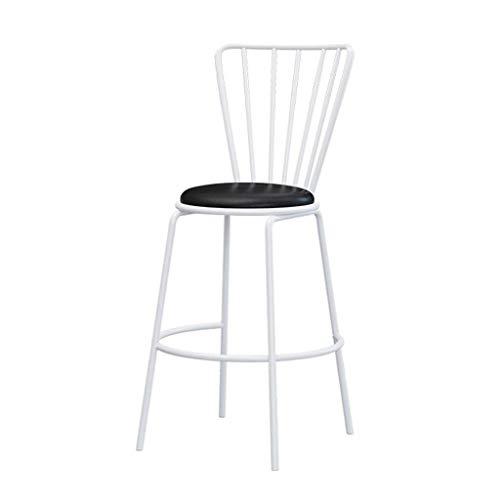 Metal eetkamerstoel Spindel Terug Eetkamerstoelen Met zadelzit Nordic barkruk moderne minimalistische smeedijzer met rugleuning Bar van het huis Hoge Kruk Dining Chair (Size : 25in)