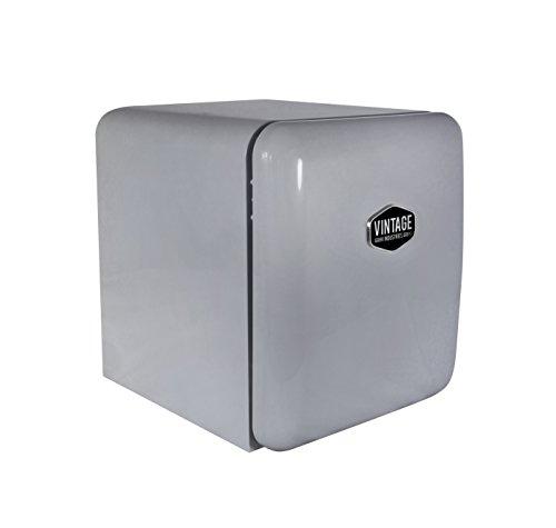 Vintage Industries ~ Mini Retro-Kühlschrank Miami 2018 in silber | Mini-Bar 50er Jahre Look | Größe: 50cm & 48l Volumen | höhenverstellbarer Tisch-Kühlschrank mit manueller Temperatureinstellung