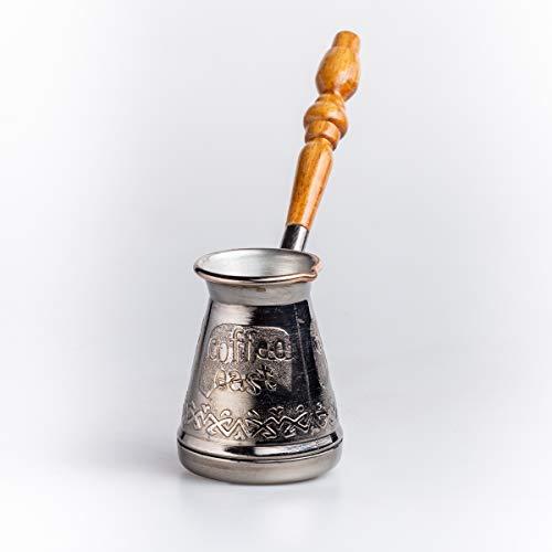Kupfer Kaffeekanne Cezve Ibrik Kaffeekocher Tet-a-Tet Orientalischen Türkischen Griechischen Kaffeegetränks Volumen 180 ml