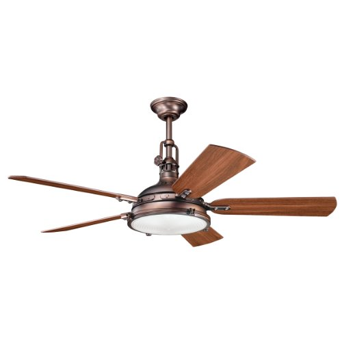 Kichler 300018OBB 56-Inch Hatteras Bay Fan, Oil Brushed Bronze
