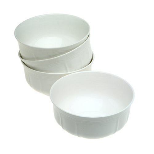 Mikasa Antique White Cereal Bowls, 6-Inch, Set of 4 - HK400-421