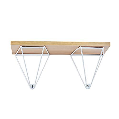 KKYY 2 stuks vintage plankhouders, wandhouder geometrische klemmen voor drijvende plank - DIY planken driehoek design planken (zwart, zilvergrijs, wit)