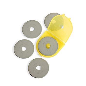 OLFA 45mm Rotary Blades, 5-pack. Premium Pack
