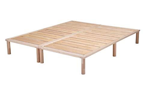 Gigapur G1 29715 Bett | Bettgestell mit Lattenrost | Birke Natur Schicht-Holz | belastbar bis 195 kg je Element | 170 x 200 cm best. aus 1 x 80, 1 x 90 cm