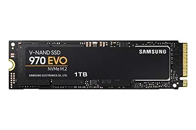 Samsung 970 EVO 1TB  SSD - M.2 NVMe V-NAND Technology, Black/Red  (MZ-V7E1T0BW)