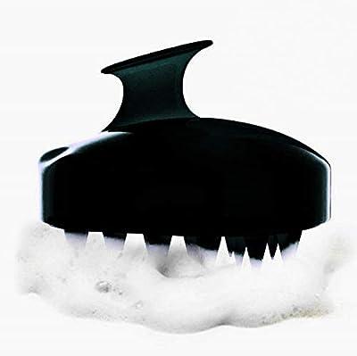 Hair Scalp Massager,Scalp Care Brush, Coobi Scalp Shampoo Brush with Soft Silicon Brush Head-Black