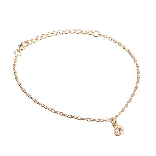Nouveau Chaîne de pied,Nourich Classique Corde Main réglable Bracelet de cheville Métal Chaîne de cheville simple élégante Décoration Cadeau Mode Été Plage Fête Accessoires (A)