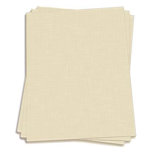 Natural White Paper - 8 1/2 x 11 LCI Linen 70lb Text, 250 Pack