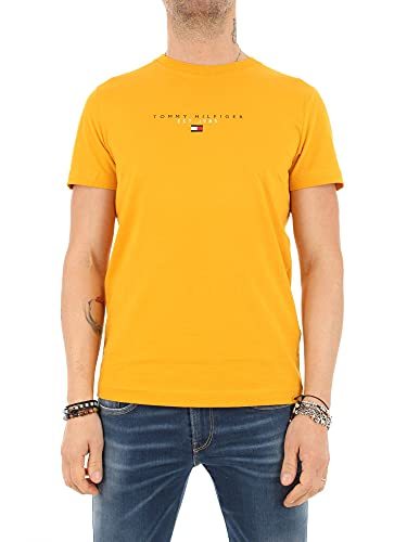 Tommy Hilfiger Essential Tommy tee Camiseta, Courtside Amarillo, M para Hombre