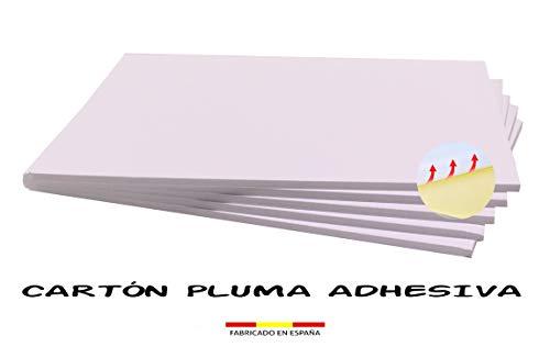 Chely Intermarket, cartón pluma adhesivo 100x140 cm (5 unidades) blanco con espesor de 5mm, apto para usos de manualidades, trabajos fotográficos o presentación de trabajo