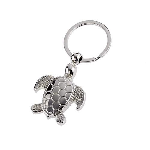 bigboba Persönlichkeit Tier Schlüsselanhänger Creative Metall Cute Schildkröte Schlüsselanhänger Anhänger Schlüsselanhänger Handtasche KFZ Dekoration 10* 6cm