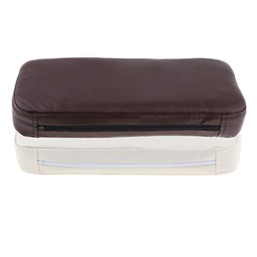 Milageto 2x Almohada de Cuero de PVC para Masaje, Almohada Facial para Spa