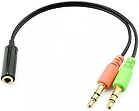 Cable Adaptador Jack Hembra 3.5 mm a Jack Doble Macho para Auriculares