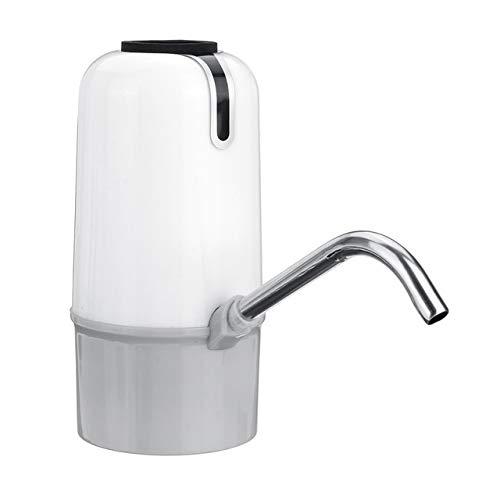 DFKDGL Hogar dispensador automático de Agua, Bomba de Agua Recargable USB portátil, Inteligente Bomba Botella de Bebida inalámbrica, una Botella de Cambio de Dispositivo Bomba de Agua (Color : White)