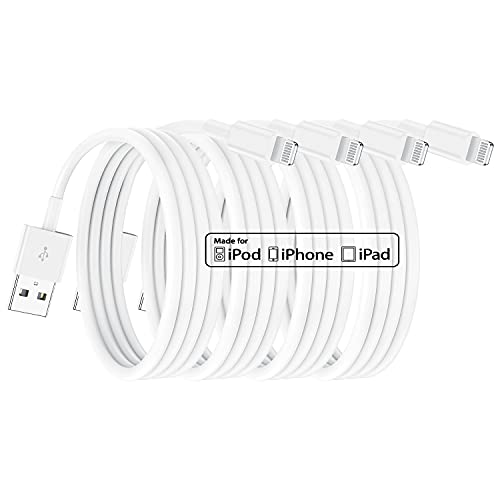 [Apple MFi Certificado] 4 Pack 2m Cable Cargador iPhone, Cable iPhone Carga Rapida para Apple iPhone12 / 12mini / iPhone 11/11 Pro / 11 Pro MAX/X/XS/XR/XS MAX / 8/8 Plus iPad Airpods