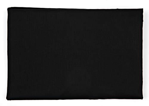 Quadrifoglio hoeslaken voor Frans bed, afmeting 140 x 200 cm, zwart