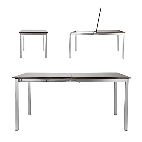 SpaceMaster Easy Sliding Space Saving Large Expandable Kitchen and Dining Table