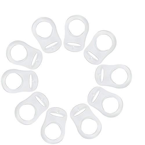 Zerodis 10Pcs Schnullerketten Schnuller Clip Schnullerband Baumwolle Band für Baby Neugeboren Baby Shower Geschenk (#3)