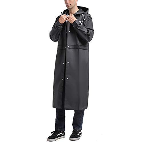 Wgwioo Waterproof Long Rain Coat Reusable Breathable Hiking Rain Jacket with Hood Unisex Adult Raincoats,10pcs,XL