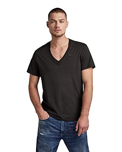 G-STAR RAW Base V T S/s 2-Pack Camiseta, Negro (Solid Black 2019), XXL para Hombre
