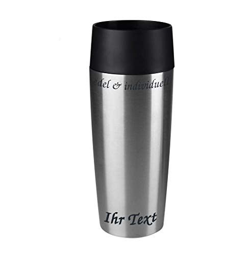 Emsa Isolierbecher Kaffeebecher 360 ml Edelstahl + Lasergravur