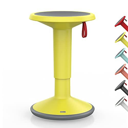 Interstuhl UPis1 – ergonomischer Sitzhocker mit Schwingeffekt – für einen geraden Rücken Made in Germany – inkl. 10 Jahren Garantie (Zitronengelb, Standard Edition)